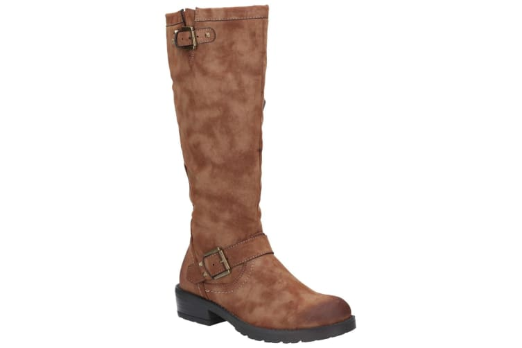 Divaz Womens/Ladies Courtney Zip Up Boot (Tan) (5)
