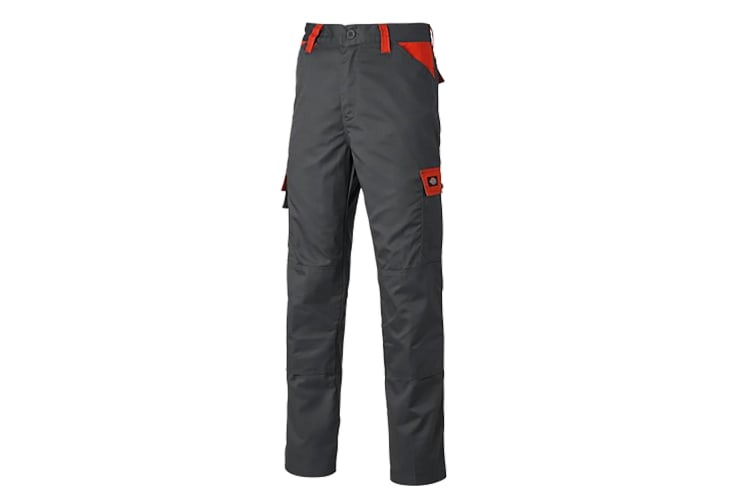 Dickies Mens Everyday Durable Cargo Pocket Work Trousers (Grey/Orange) (38R)