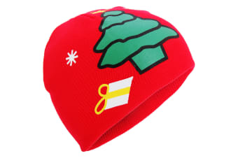 ProClimate Childrens/Kids Christmas Winter Beanie Hat (Red)
