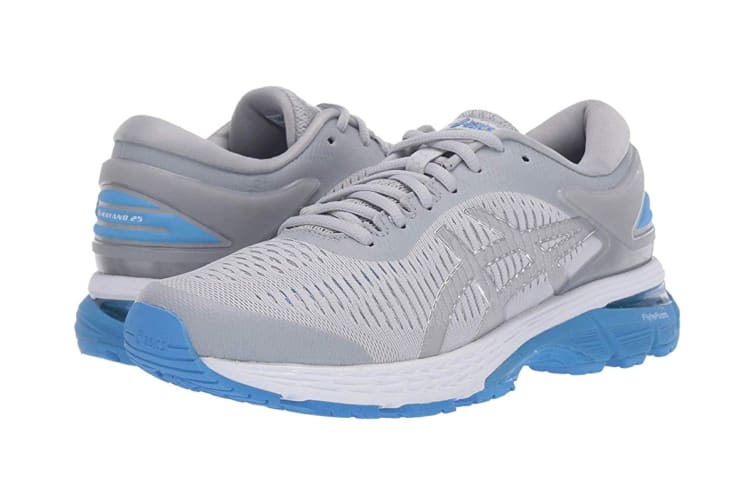 ASICS Women's  Gel-Kayano 25 Running Shoe (Mid Grey/Blue Coast, Size 7.5)
