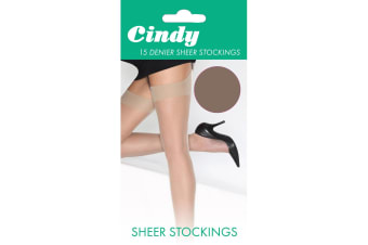 Cindy Womens/Ladies 15 Denier Sheer Stockings (1 Pair) (Paloma Mink)