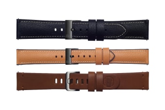 Samsung Galaxy Watch 46mm -3 Pack Straps (22mm band) - Black, Tan, Brown