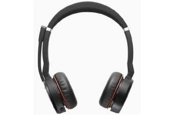 Jabra Evolve 75 Headset MS Stereo - Skype For Business - Stereo - Wireless - Bluetooth - 30.5 m - 20