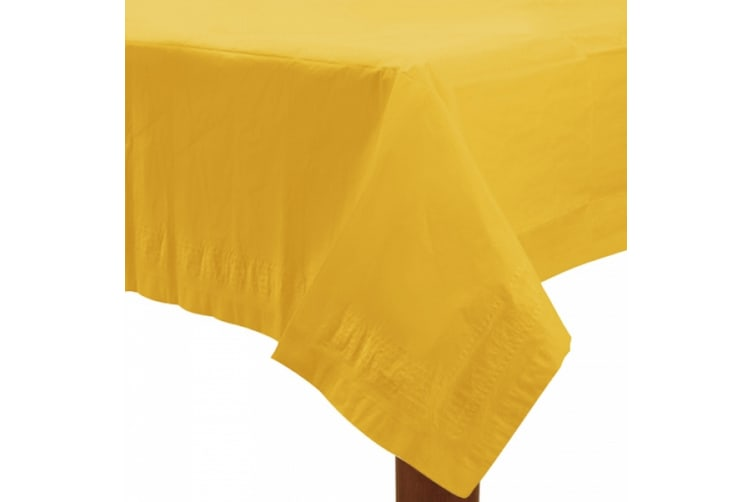 Amscan Plastic Lined Solid Colour Tablecover (Yellow) (One Size)