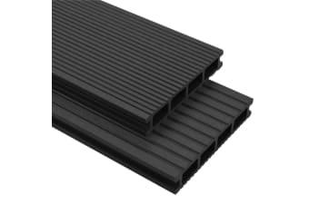 vidaXL WPC Decking Boards with Accessories 2 m² Anthracite