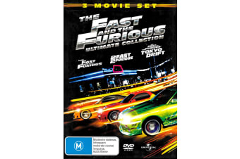 Fast and Furious 3 Movie Set - Rare- Aus Stock DVD PREOWNED: DISC LIKE NEW
