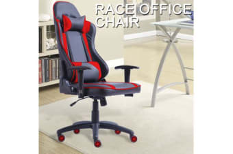 Gaming Racing Office Chair PU Leather RED