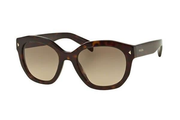 Prada PR12SS - Havana Light Brown (Gradient Light Grey lens) Womens Sunglasses