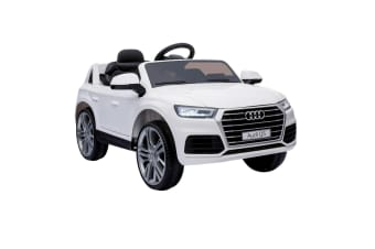 White AUDI Q5 Ride on Car w/ Remote Controller Button Start