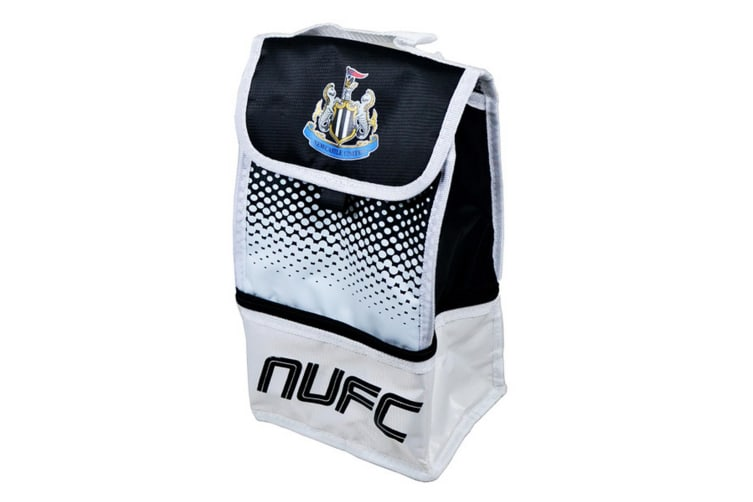 Newcastle United FC Official Fade Football Crest Design Lunch Bag (Black/White) (One Size)