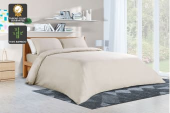 Ovela 400TC 100% Bamboo Quilt Cover Set (King, Beige)
