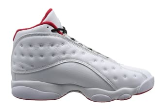 Nike Men's Air Jordan 13 Retro History of Flight Shoe (White/Silver/University Red, Size 9)