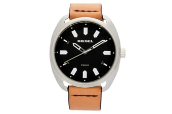 Diesel Men's 45mm Analogue Watch w/Fastbak Leather Strip Band Tan/Blue/Black