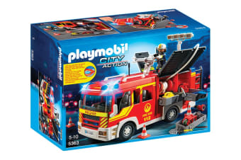 Playmobil City Action Fire Engine with Lights and Sound
