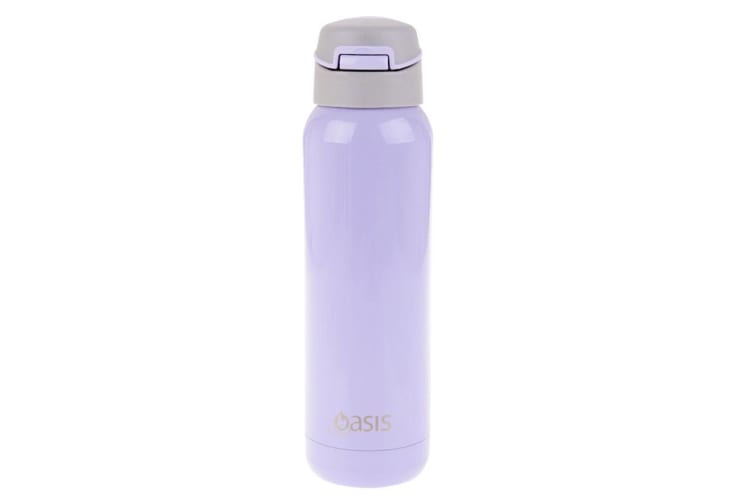 2x Oasis 500ml Stainless Steel Insulated Sports Drink Water Bottle w Straw Lilac