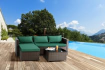 Ovela Bodrum 3 Piece Wicker Sofa Set
