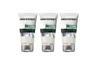 3x Loreal Paris 150ml Men Expert Hydra Sensitive Skin Face Wash Facial Cleanser