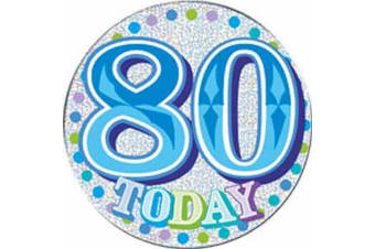 Expression Factory Giant Blue 80 Today Birthday Badge (Blue)