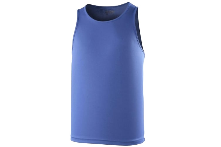 Just Cool Mens Sports Gym Plain Tank / Vest Top (Royal Blue) (M)