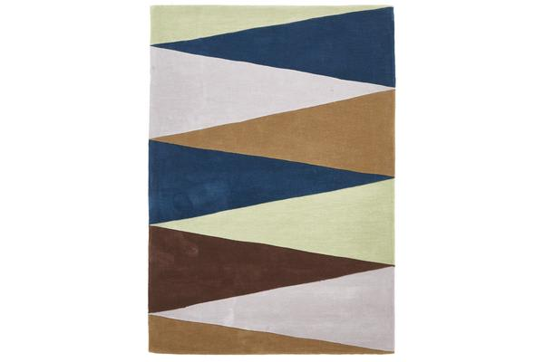 Cascade Modern Rug Blue Green Brown 320x230cm