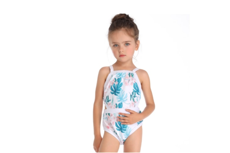 Bikini Swimsuits Print Sexy One Piece Bathing Suit Mother And Daughter Sets White 116