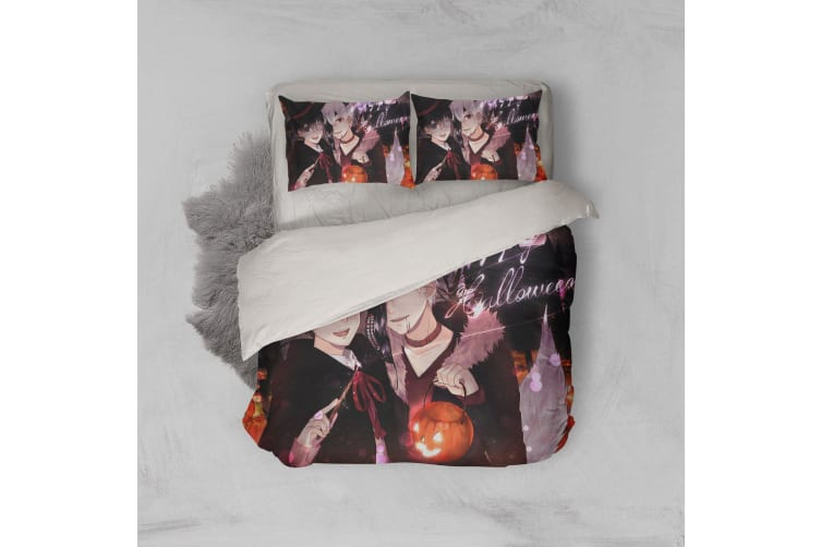 3D Anime Mask Ghoul Quilt Cover Set Bedding Set Pillowcases 57-Single