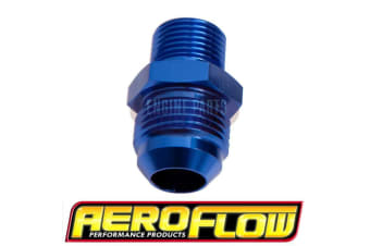 Aeroflow Metric M10 X 1.0mm To -6AN Blue Male M10X1.0mm To -6AN