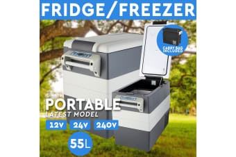 55L Portable Fridge Freezer 12V/24V/240V Camping Car Boating Caravan Bar Fridge