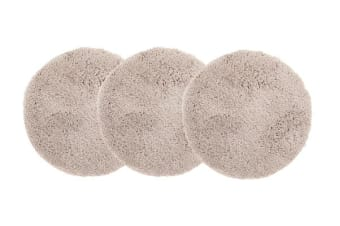 Pack of 3 Freckles Round Shag Rugs Cream