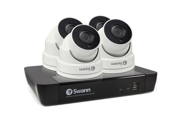 Swann 8 Channel 5MP Super HD 2TB NVR with 4 x 5MP Dome Cameras (SWNVK-874504D)