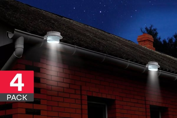 Solar Powered LED Multipurpose Lights (4 Pack)