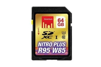 STRONTIUM Nitro Plus Series 64 GB Ultra High Speed SDXC Card UHS-1 Read up to 80MB/s