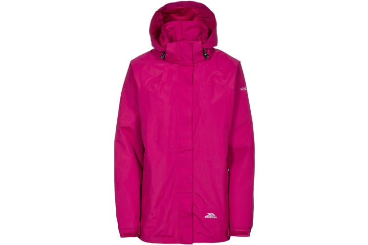 Trespass Womens/Ladies Nasu II Waterproof Shell Jacket (Cerise) (XS)