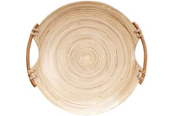 Ladelle Arise Rustic Bamboo Natural Tray 40cm