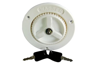 Fawo Water Inlet And Filler Cap With 2 Keys (40mm Hose) (White) (One Size)
