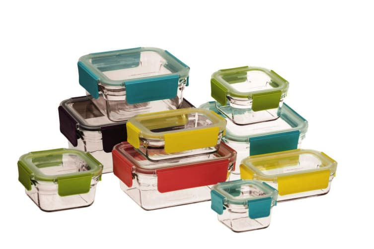 Glasslock 9 Piece Tempered Glass Food Container Premium Oven Safe Set