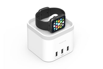 mbeat Power Time Apple Watch Charging Dock with 3 Extra Smart Charging Ports (MB-CHGR-C58W)