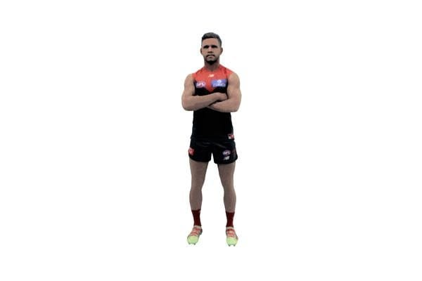 Neville Jetta AFL Melbourne 3D Printed Mini League Figurine - 23cm