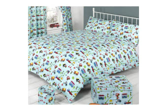 Mucky Fingers Childrens Traffic Duvet Cover Bedding Set (Traffic)