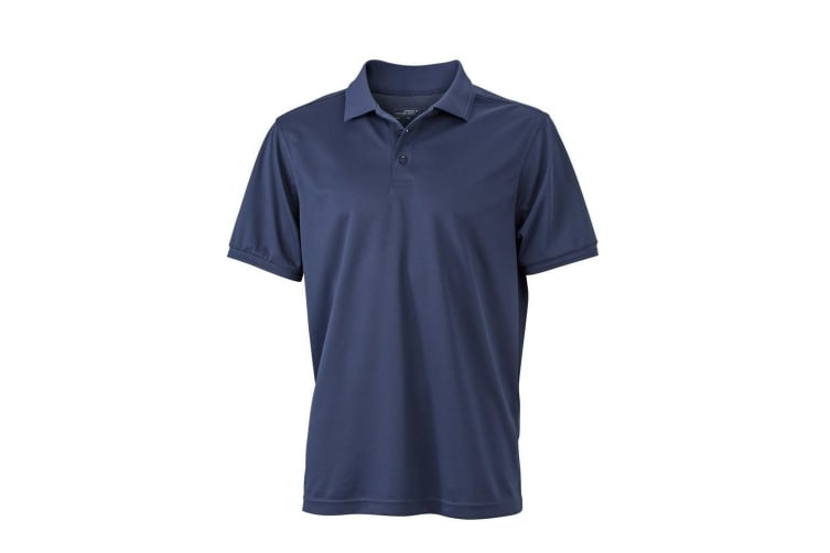 James and Nicholson Mens Active Polo (Navy) (XXL)