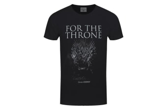 Game Of Thrones Mens For The Iron Throne T-Shirt (Black)