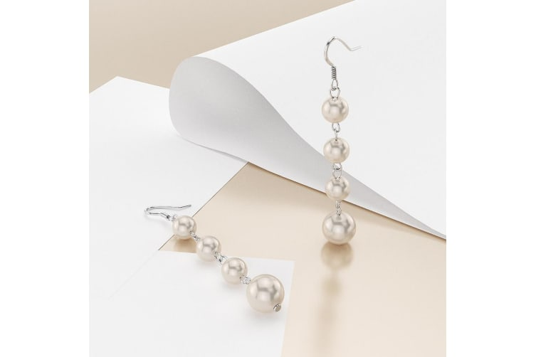 .925 Swarovski® Pearl Cascade Earrings
