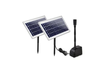 110W Water Solar Pond Pump Kit Garden Outdoor Submersible Fountain Filter Panel