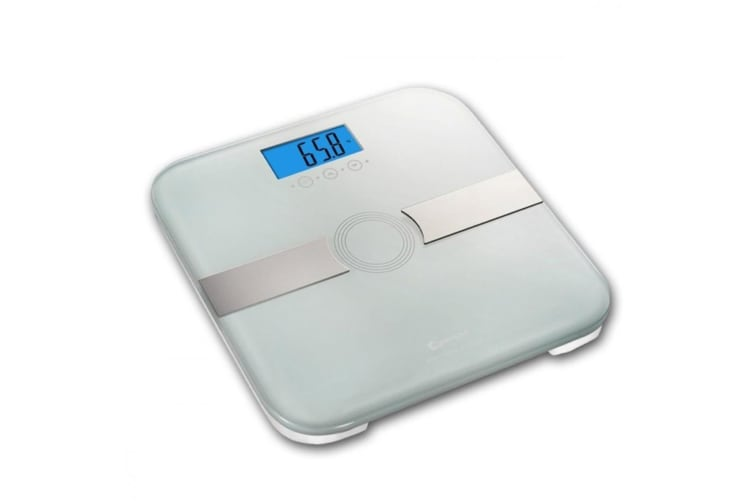 Sansai White Body Analysing BMI Muscle Bathroom Digital Scale/Weight Measure/LCD