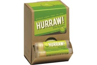 Hurraw! Lip Balm Lime 4.3g x 24 Counter Unit