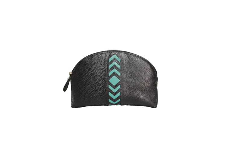 Eastern Counties Leather Womens/Ladies Becky Chevron Detail Make Up Bag (Turquoise) (One size)