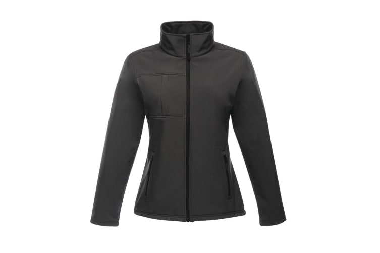 Regatta Professional Womens/Ladies Octagon II Waterproof Softshell Jacket (Seal Grey/Black) (18)
