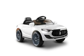 Rigo Maserati Kids Ride On Car -  (White)
