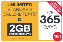 Kogan Mobile Prepaid Voucher Code: SMALL (365 Days | 2GB Per 30 Days) - 15% Off