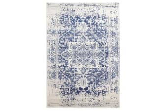 Horizon White Navy Transitional Rug 400x300cm